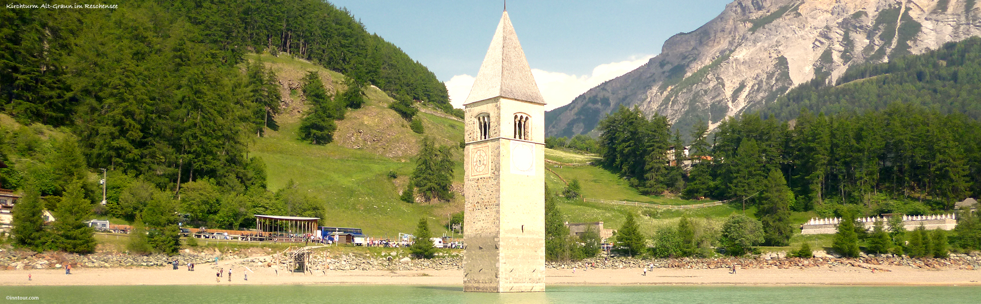 Oklass1inntour_Alt-Graun-im-Reschensee_P1010596