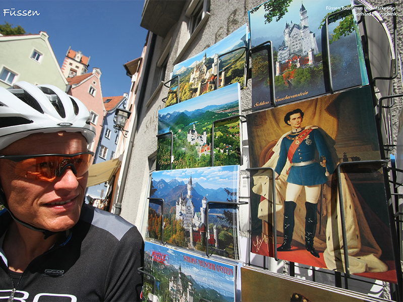 "A cycling trip framed by the imposing natural scenery in the heart of the Tyrolean and Bavarian Alps. From Emperor Maximillian's ""city in the mountains"" Innsbruck by Garmisch-Partenkirchen to Füssen and King Ludwig's castles of Neuschwanstein and Hohenschwangau."